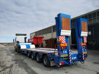 Extendable 4 axle Lowbed semi trailers